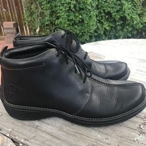 Timberland Black Leather Waterproof Ankle Boots